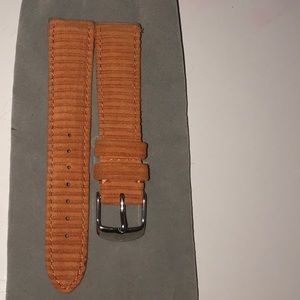 New Michele watch Orange Rusty 18mm band